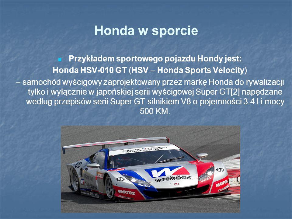 Przykładem sportowego pojazdu Hondy jest:
