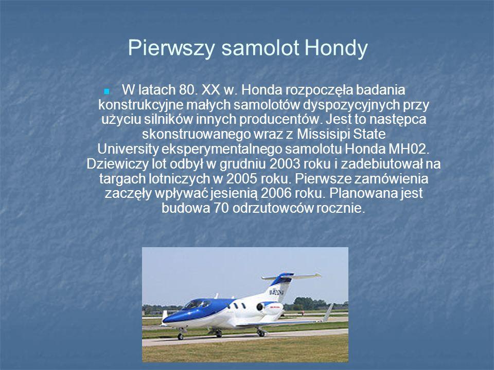 Pierwszy samolot Hondy