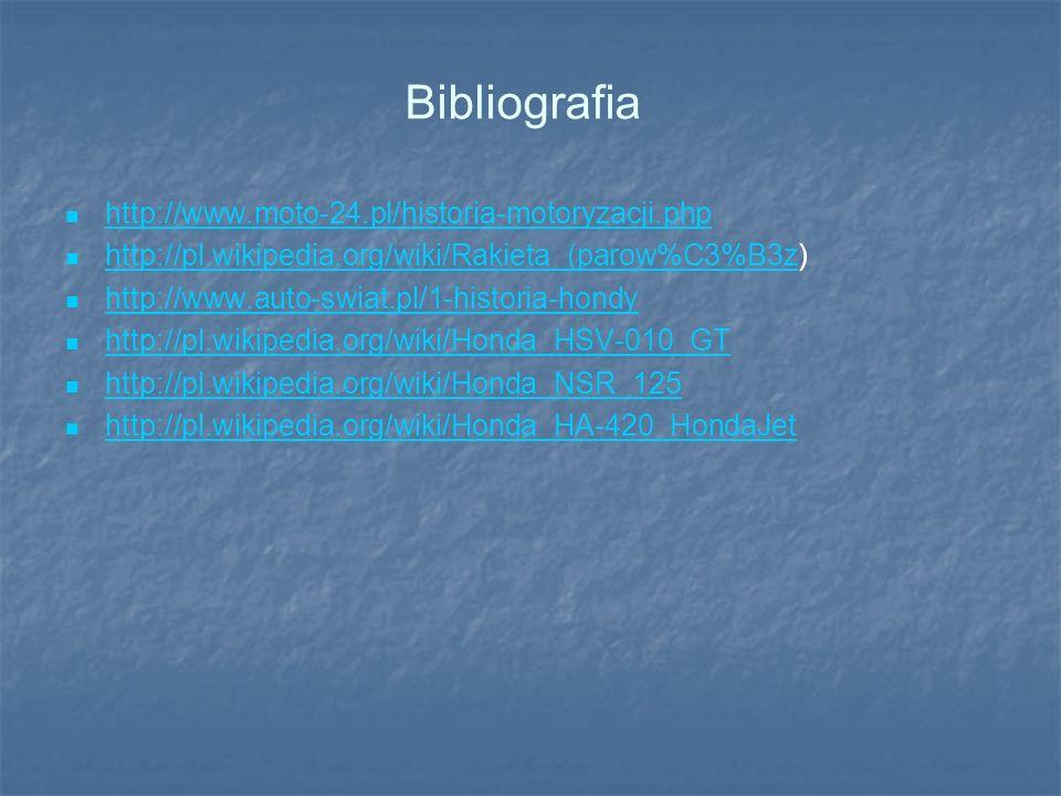 Bibliografia http://www.moto-24.pl/historia-motoryzacji.php