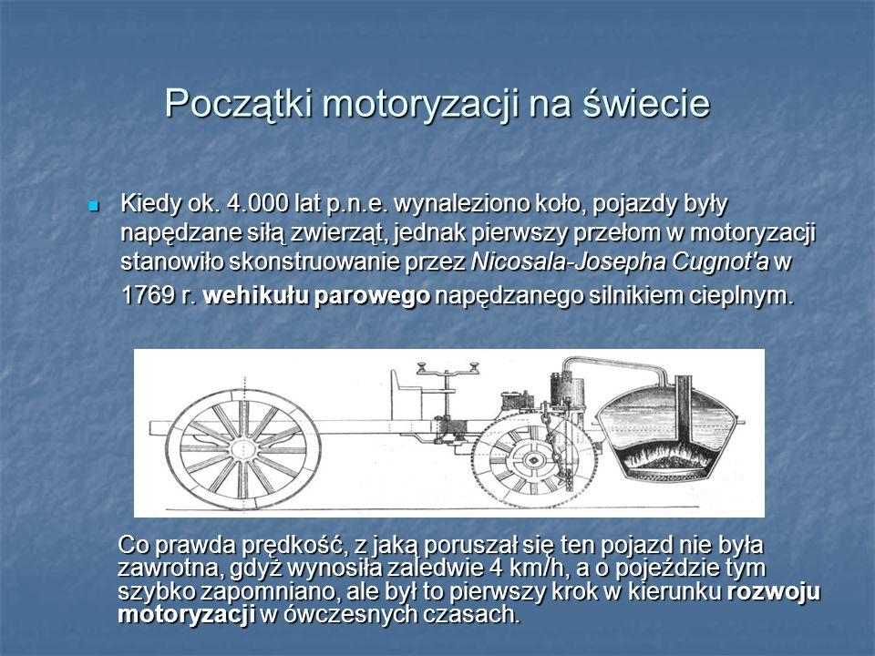 Początki motoryzacji na świecie