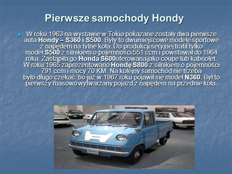 Pierwsze samochody Hondy