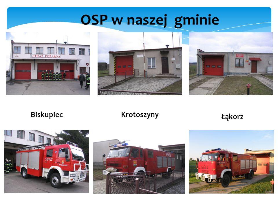 OSP w naszej gminie Biskupiec Krotoszyny Łąkorz