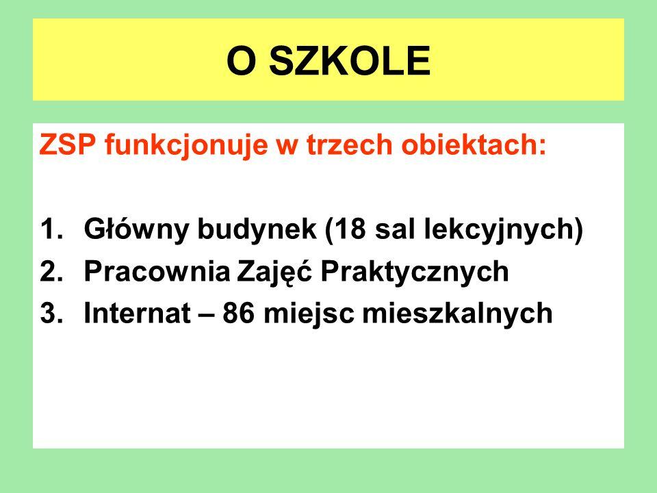 O SZKOLE ZSP funkcjonuje w trzech obiektach: