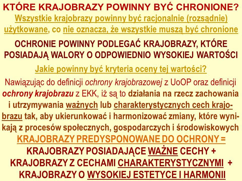 KRAJOBRAZY PREDYSPONOWANE DO OCHRONY =