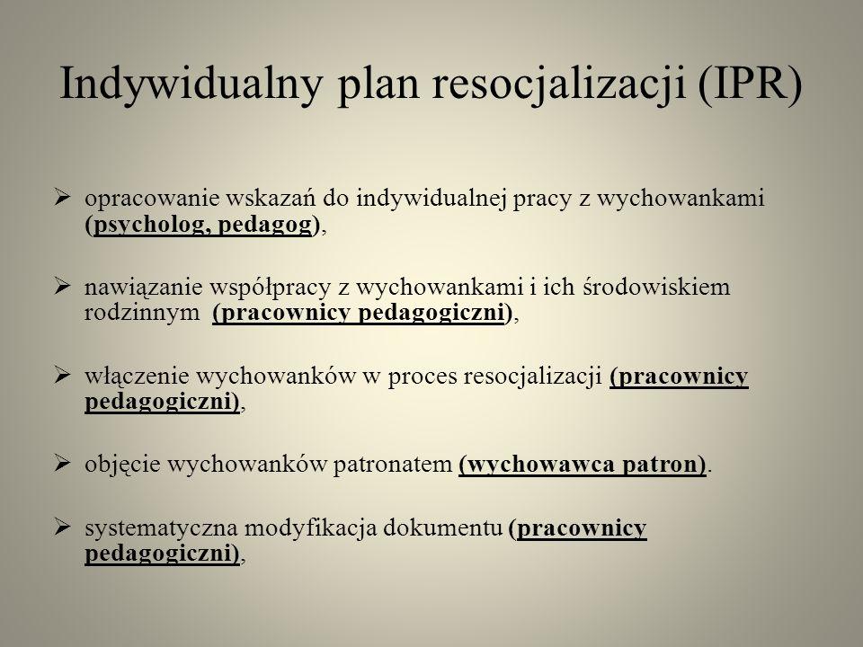 Indywidualny plan resocjalizacji (IPR)