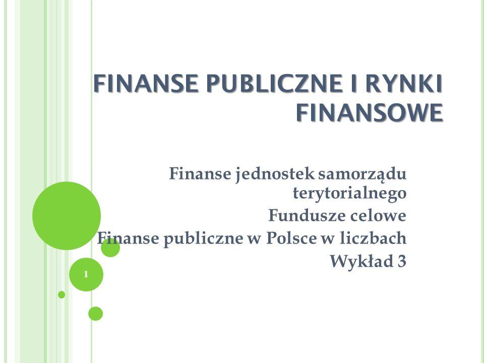 FINANSE PUBLICZNE I RYNKI FINANSOWE