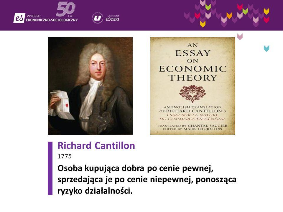 Richard Cantillon 1775.