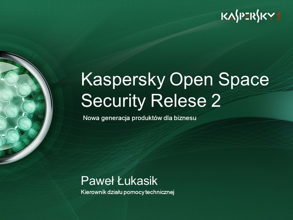 Kaspersky Open Space Security Relese 2