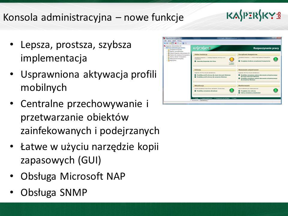 Konsola administracyjna – nowe funkcje