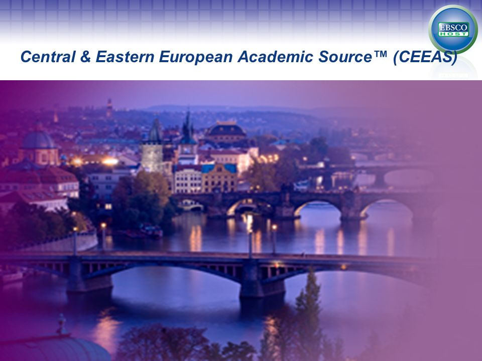 Central & Eastern European Academic Source™ (CEEAS)