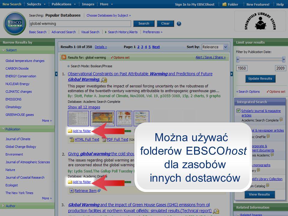 folderów EBSCOhost dla zasobów innych dostawców