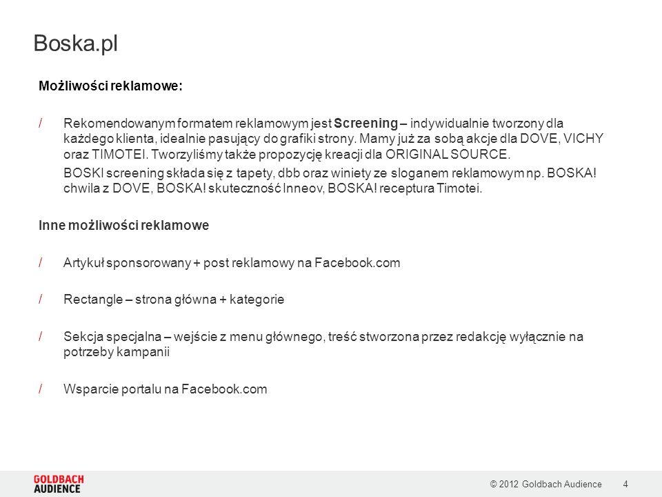 Boska.pl Możliwości reklamowe: