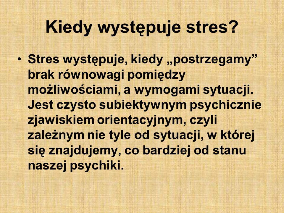 Kiedy występuje stres
