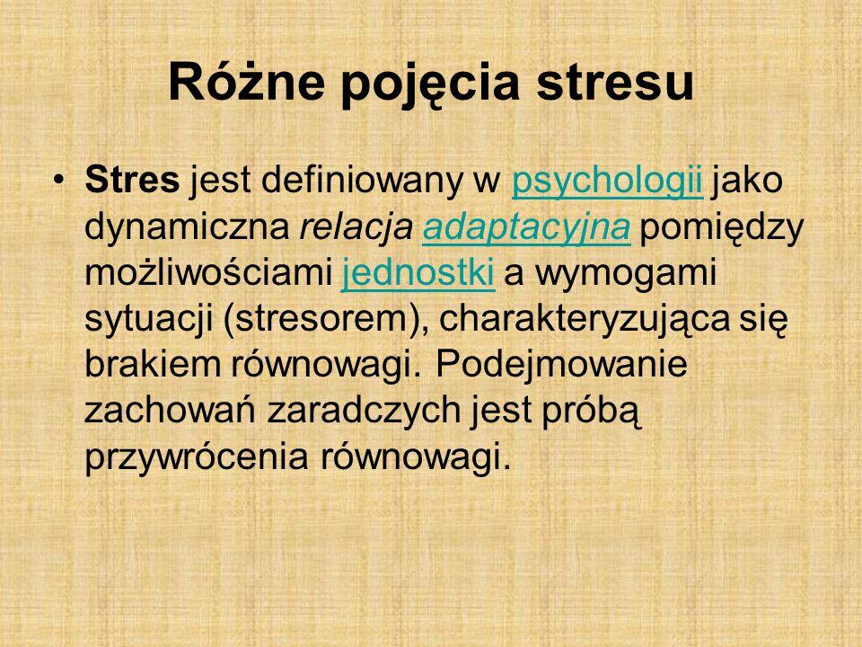 Różne pojęcia stresu