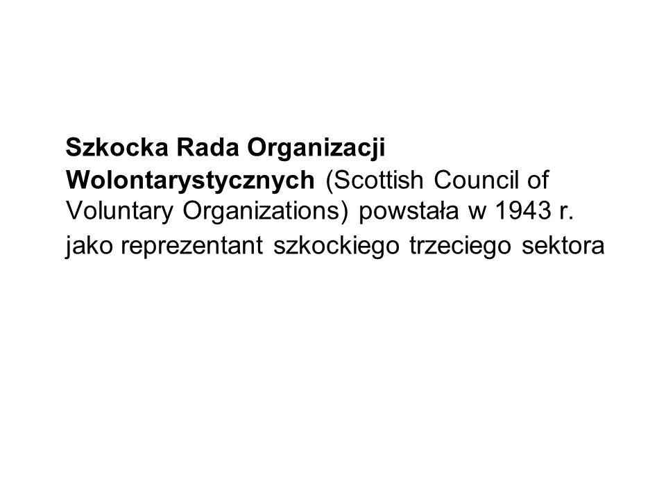 Szkocka Rada Organizacji Wolontarystycznych (Scottish Council of Voluntary Organizations) powstała w 1943 r.