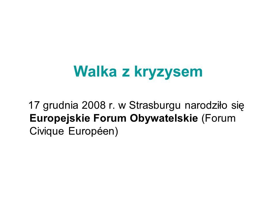 Walka z kryzysem 17 grudnia 2008 r.