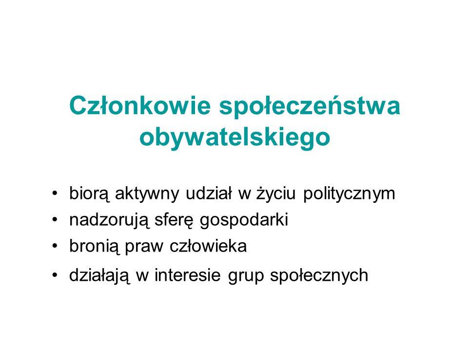 Członkowie społeczeństwa obywatelskiego