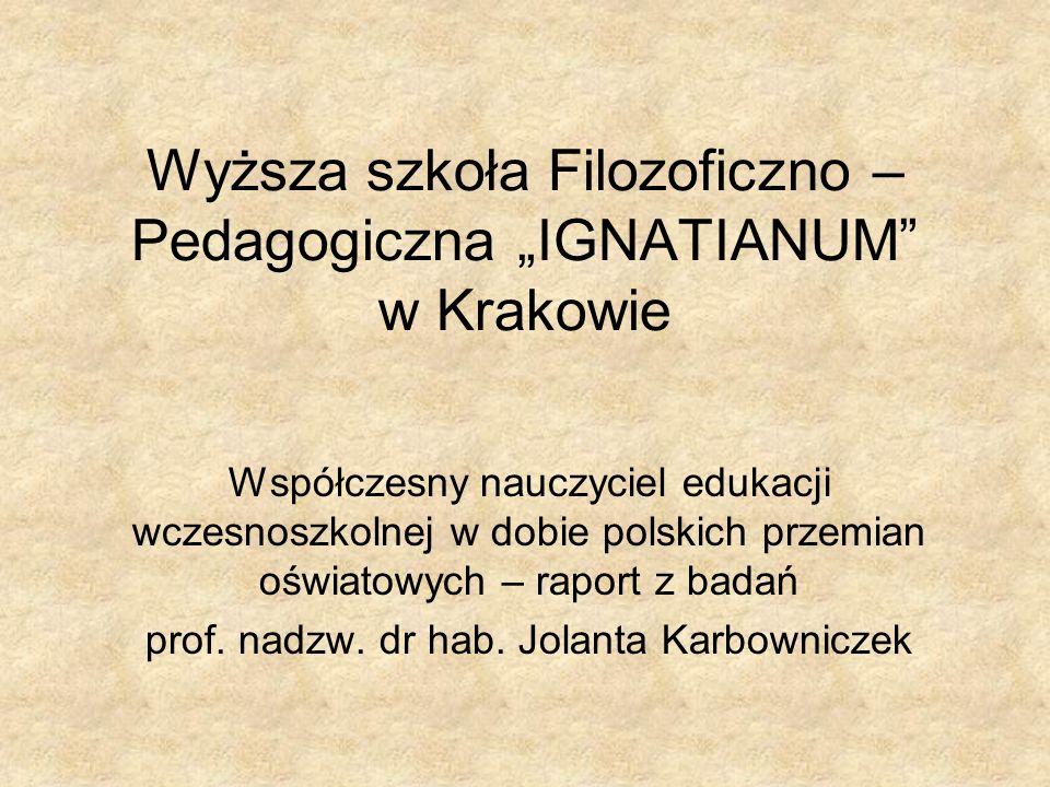 """Wyższa szkoła Filozoficzno – Pedagogiczna """"IGNATIANUM w Krakowie"""