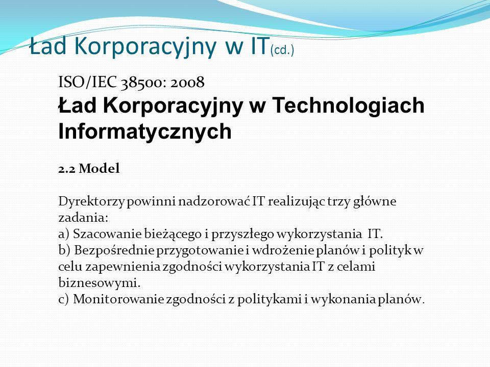 Ład Korporacyjny w IT(cd.)
