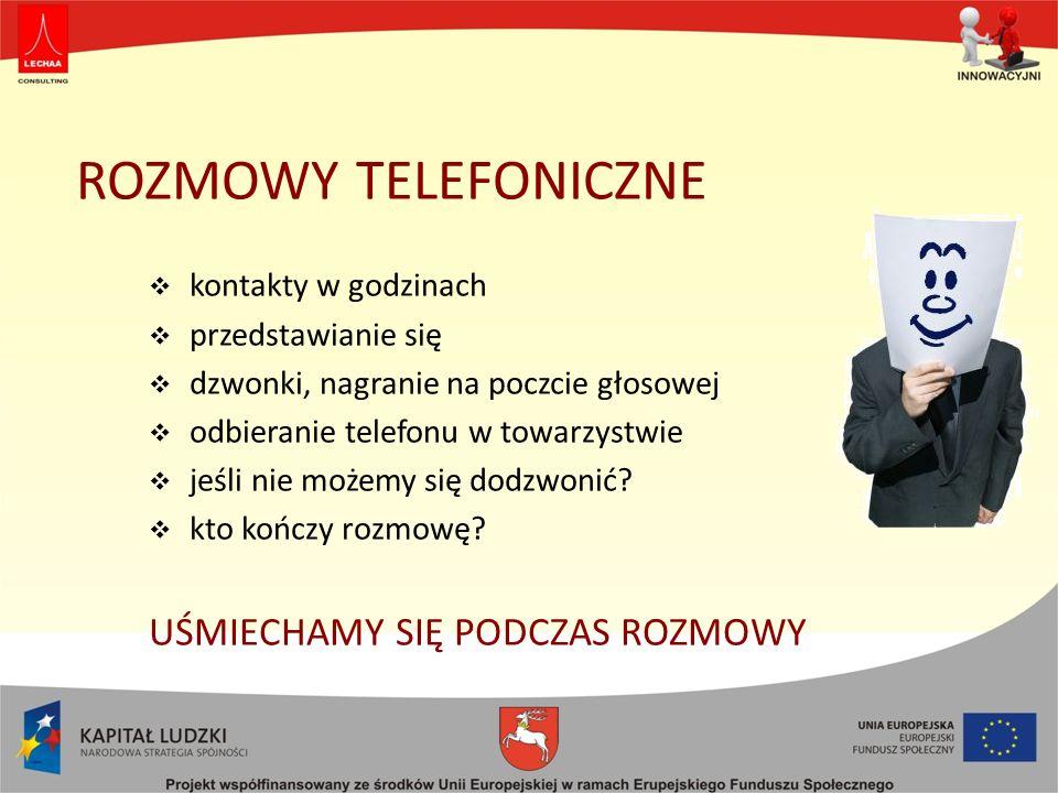 ROZMOWY TELEFONICZNE UŚMIECHAMY SIĘ PODCZAS ROZMOWY
