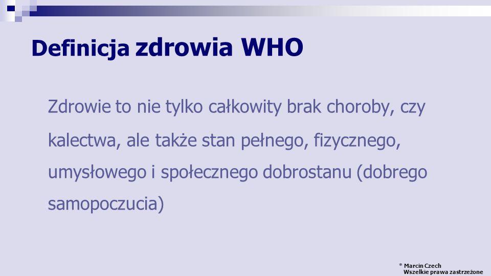 Definicja zdrowia WHO