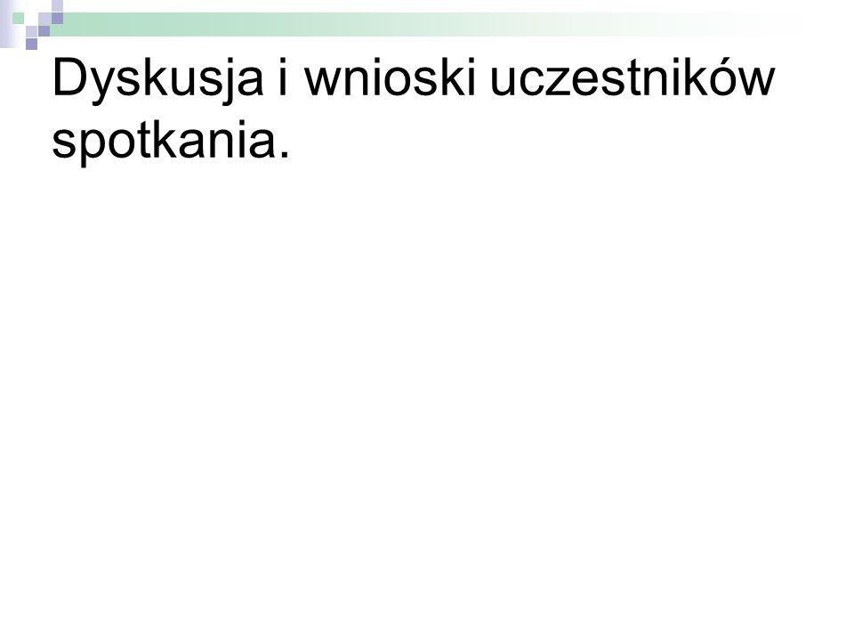 Dyskusja i wnioski uczestników spotkania.