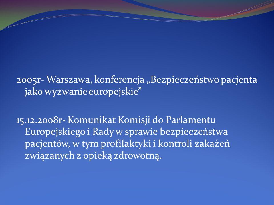 """2005r- Warszawa, konferencja """"Bezpieczeństwo pacjenta jako wyzwanie europejskie"""