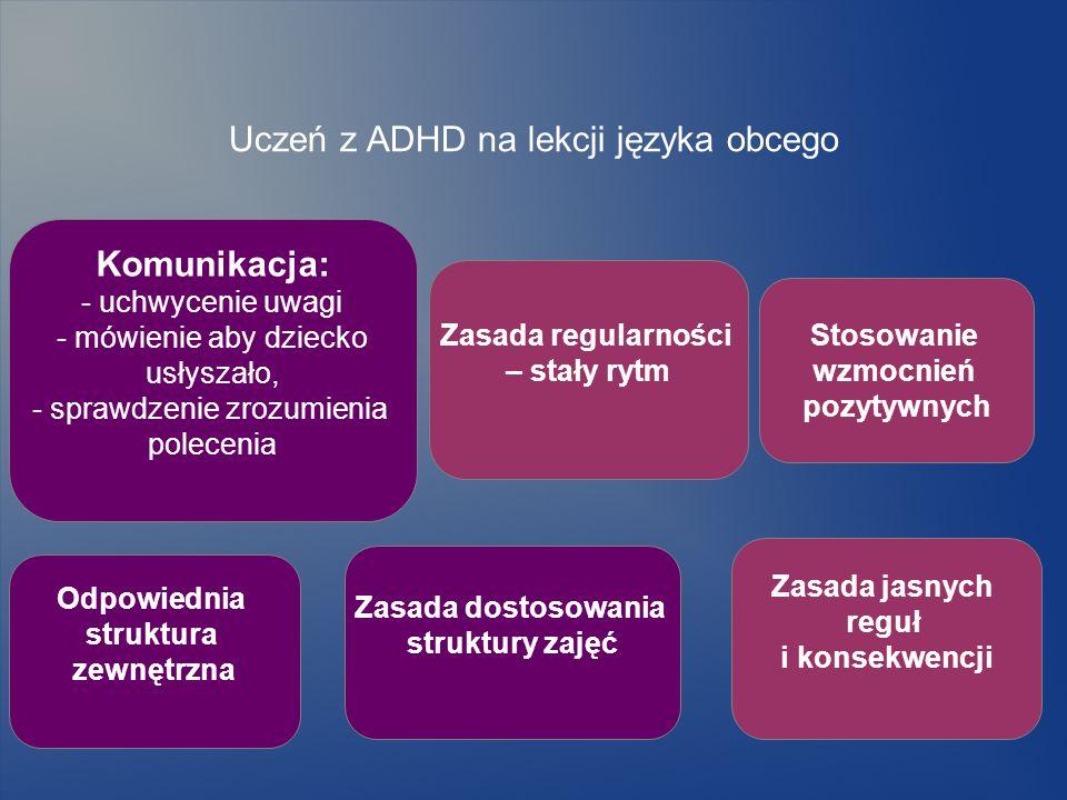 Uczeń z ADHD na lekcji języka obcego