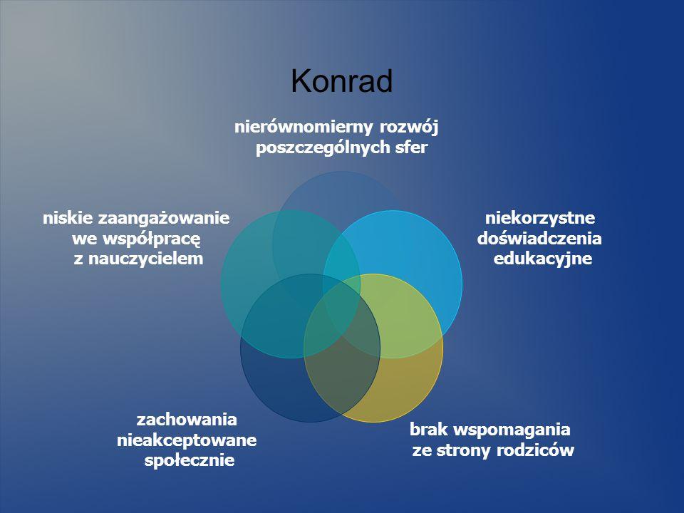 Konrad nierównomierny rozwój poszczególnych sfer