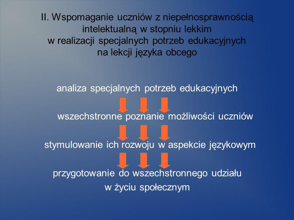 analiza specjalnych potrzeb edukacyjnych