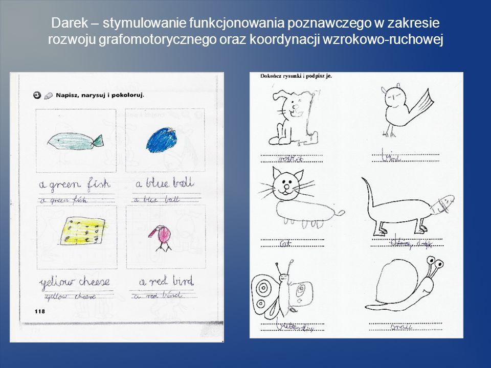 Darek – stymulowanie funkcjonowania poznawczego w zakresie rozwoju grafomotorycznego oraz koordynacji wzrokowo-ruchowej