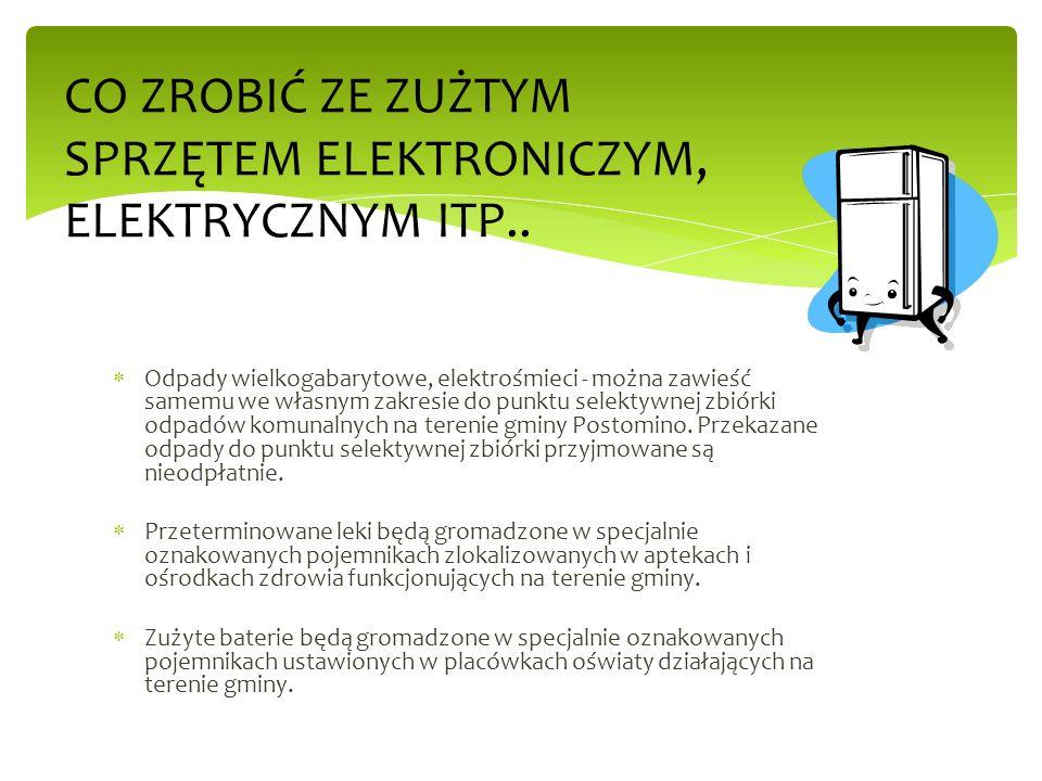 CO ZROBIĆ ZE ZUŻTYM SPRZĘTEM ELEKTRONICZYM, ELEKTRYCZNYM ITP..
