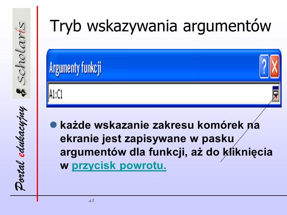 Tryb wskazywania argumentów