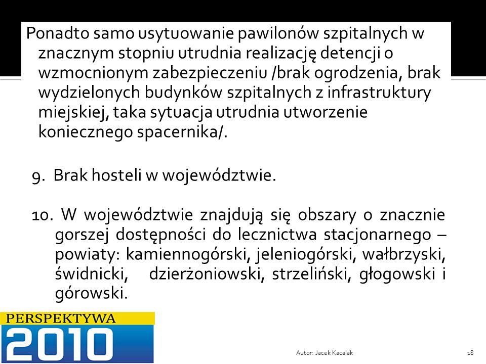 9. Brak hosteli w województwie.