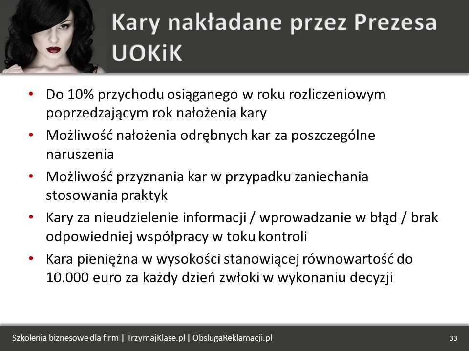 Kary nakładane przez Prezesa UOKiK