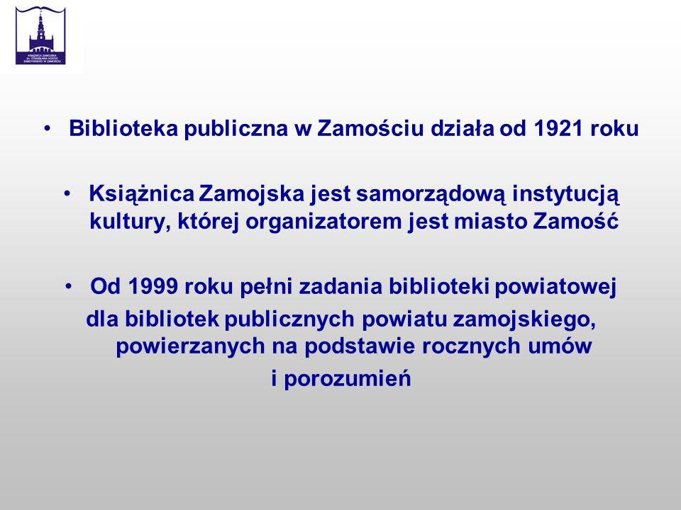 Biblioteka publiczna w Zamościu działa od 1921 roku