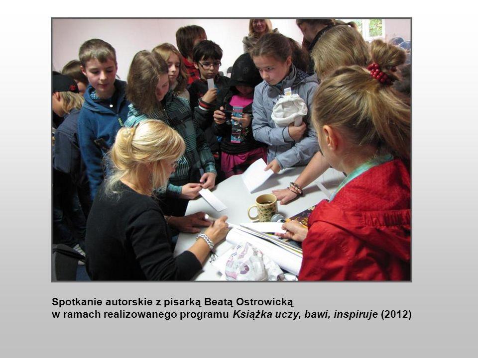 Spotkanie autorskie z pisarką Beatą Ostrowicką