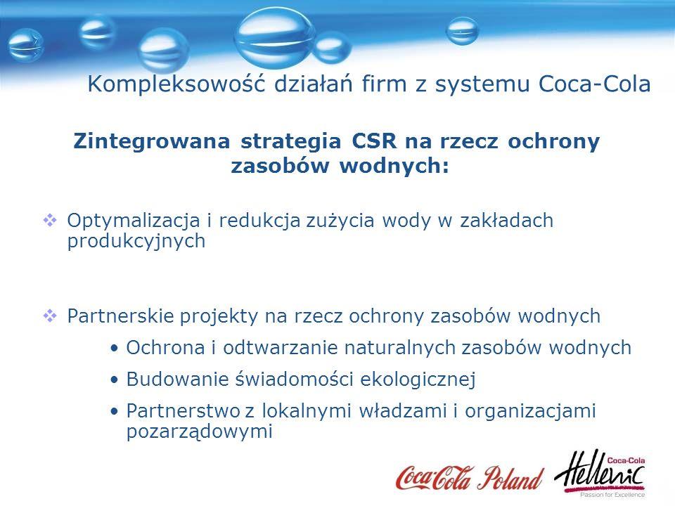 Kompleksowość działań firm z systemu Coca-Cola