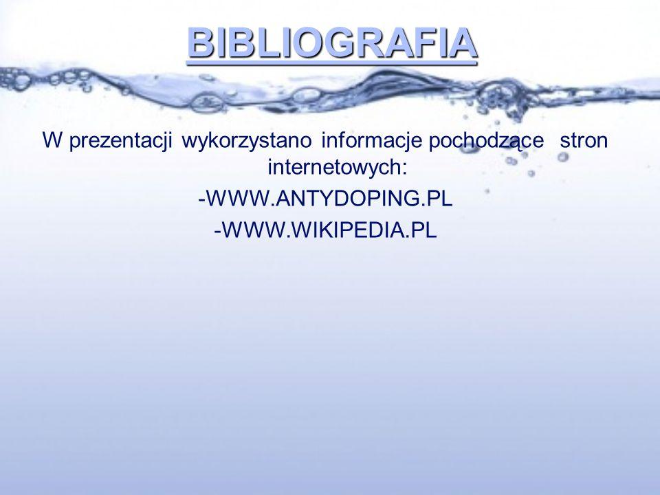 W prezentacji wykorzystano informacje pochodzące stron internetowych: