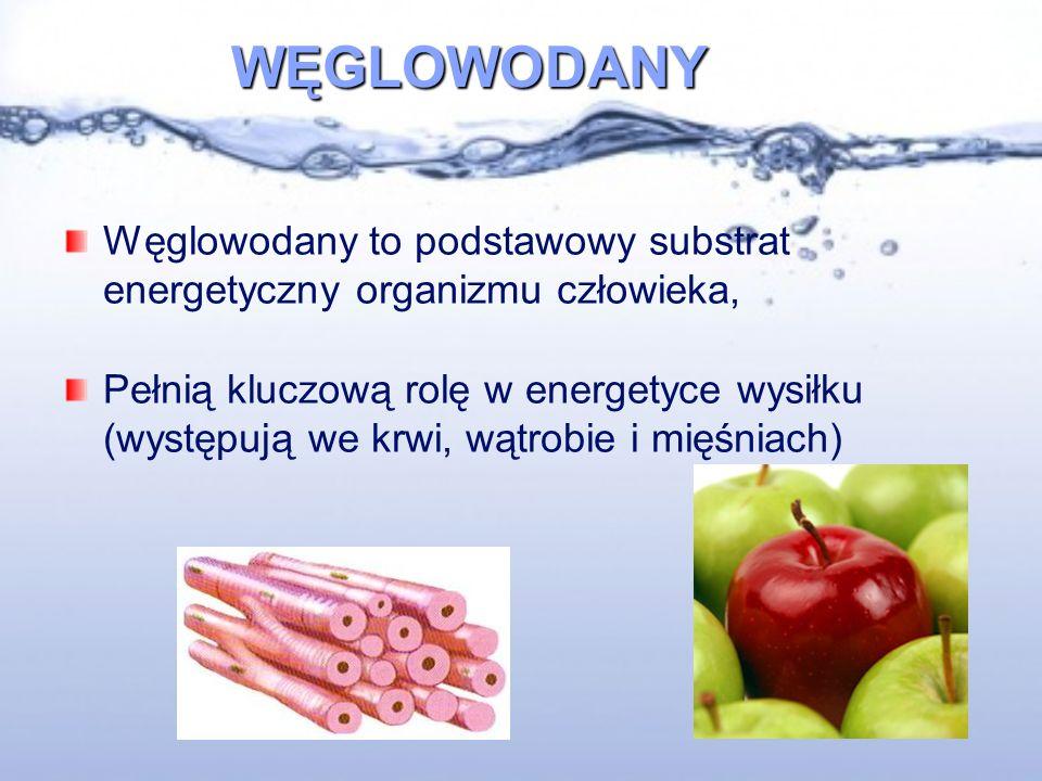 WĘGLOWODANY Węglowodany to podstawowy substrat energetyczny organizmu człowieka,