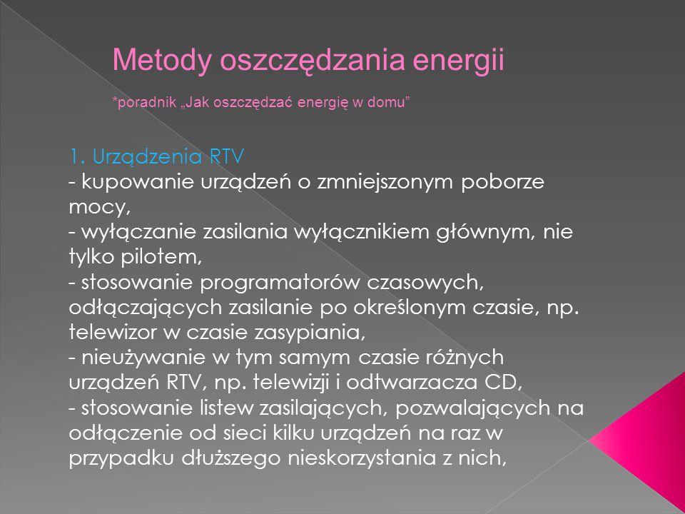 Metody oszczędzania energii