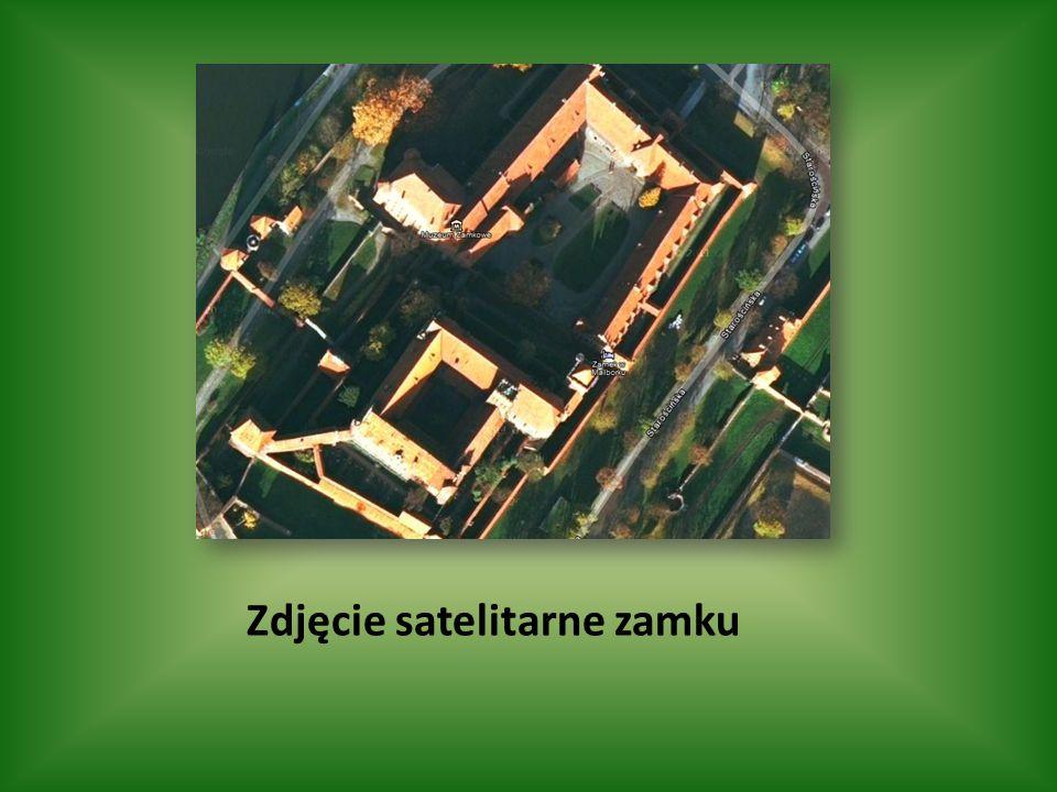 Zdjęcie satelitarne zamku