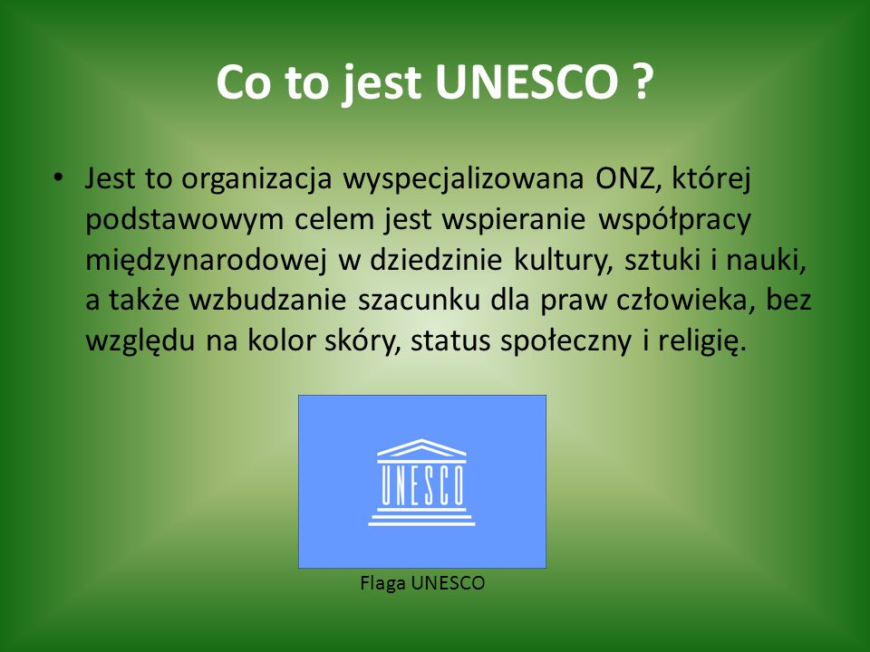 Co to jest UNESCO