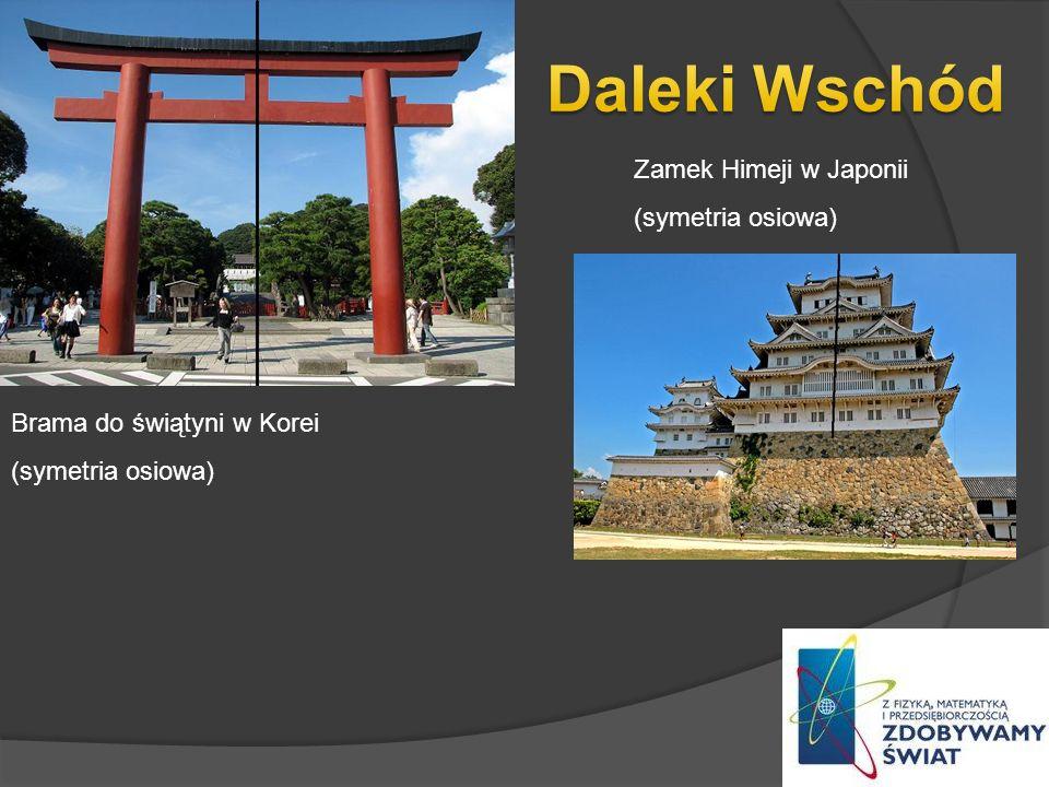 Daleki Wschód Zamek Himeji w Japonii (symetria osiowa)