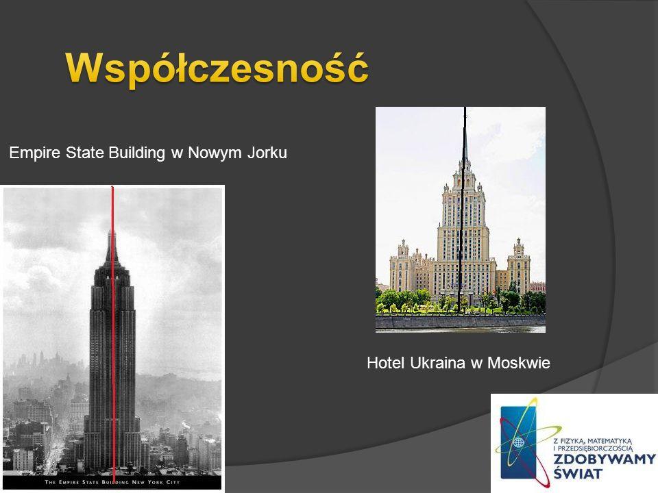 Współczesność Empire State Building w Nowym Jorku