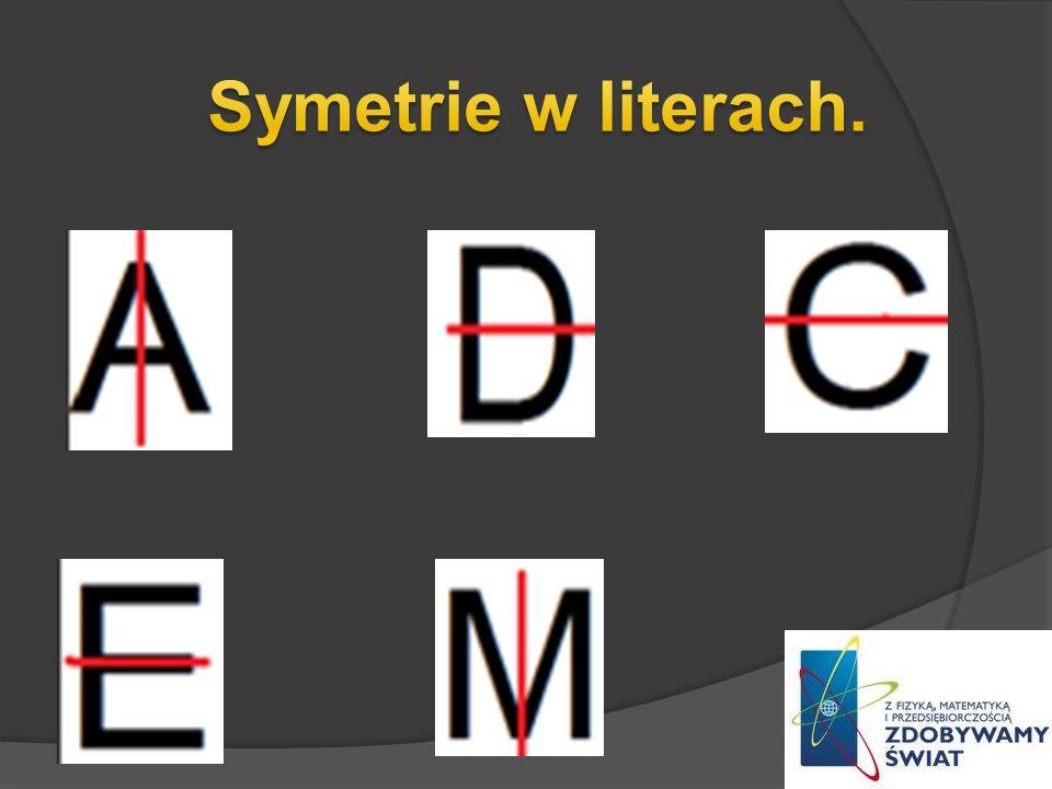 Symetrie w literach.