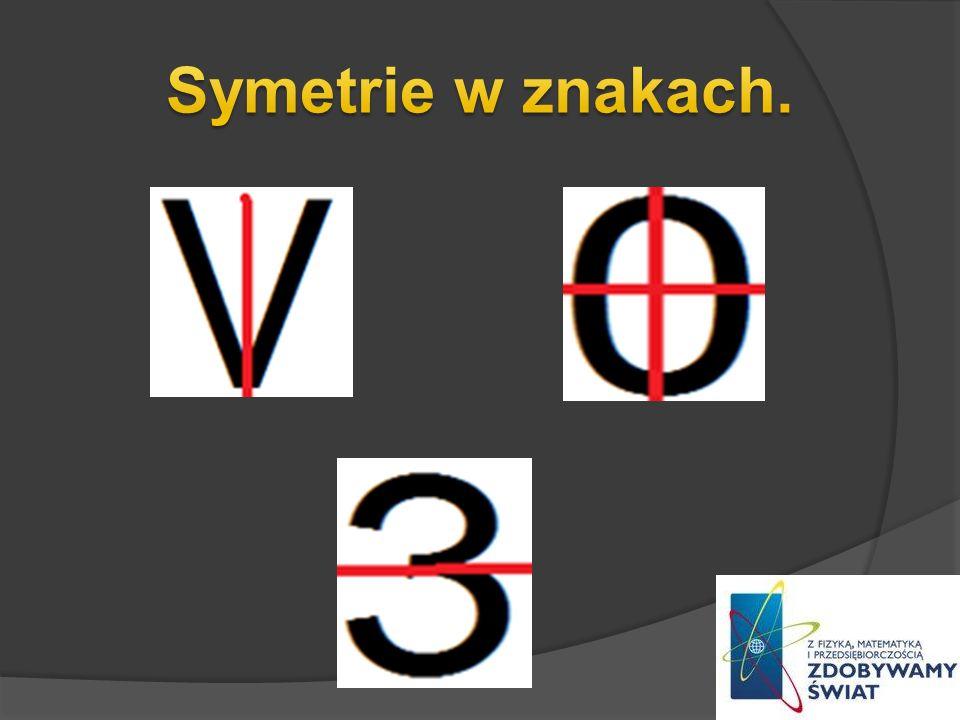 Symetrie w znakach.