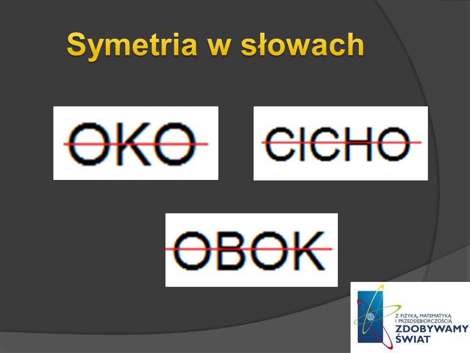Symetria w słowach