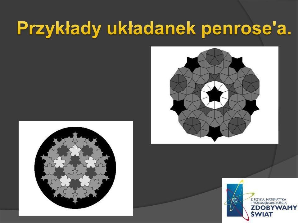 Przykłady układanek penrose a.