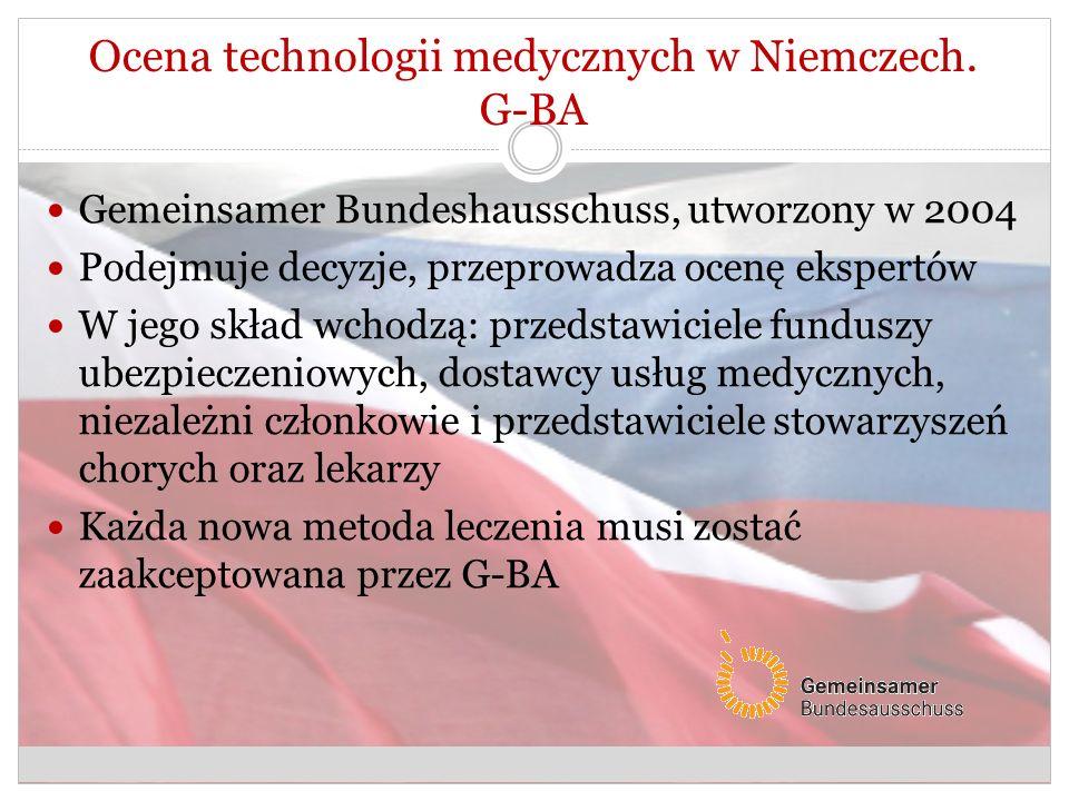 Ocena technologii medycznych w Niemczech. G-BA